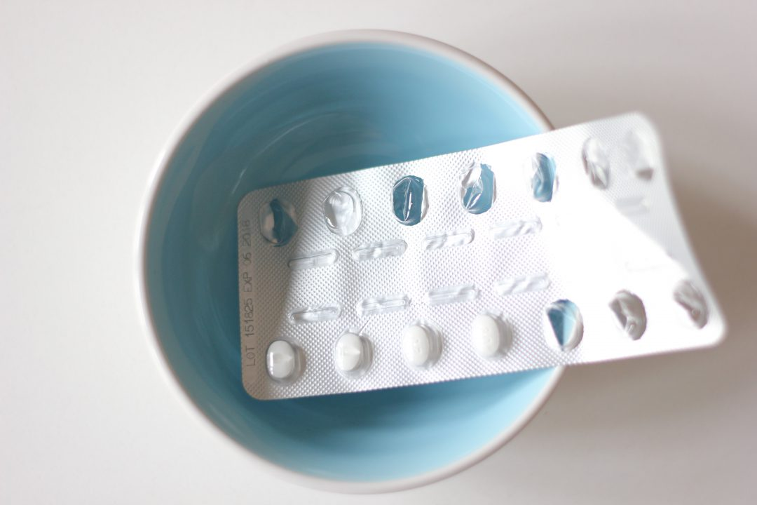 Pills in Bowl